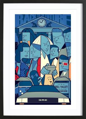 Back to the future Framed Print