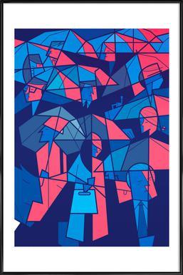 Tokyo Frames Rain Framed Poster