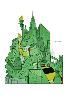 New York Plakat af akrylglas