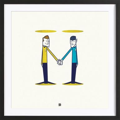 Love, final frontier Framed Print