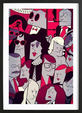 ROCKY HORROR PICUTRE SHOW Poster i träram