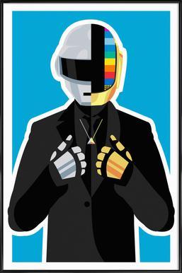 Daft Punk ingelijste poster