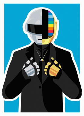 Daft Punk canvas doek