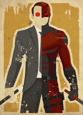 Daredevil canvas doek