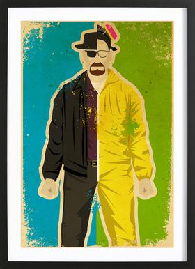 Heisenberg ingelijste print