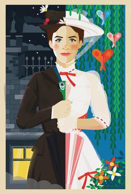 Mary Poppins alu dibond