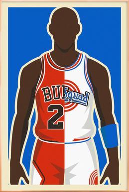 MJ Space Jam Poster in Aluminium Frame