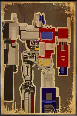 Optimus Mega ingelijste poster