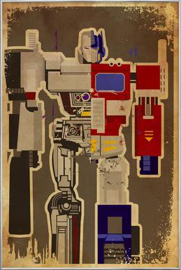 Optimus Mega poster in aluminium lijst