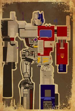 Optimus Mega acrylglas print