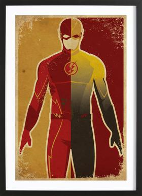 The Flash ingelijste print