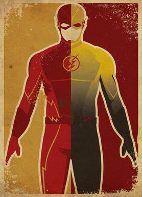 The Flash canvas doek