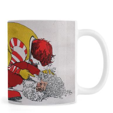 Ronald vs Santa mug