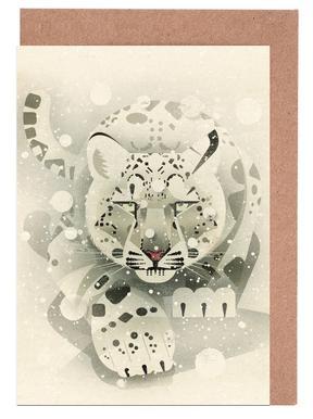 Schneeleopard Greeting Card Set