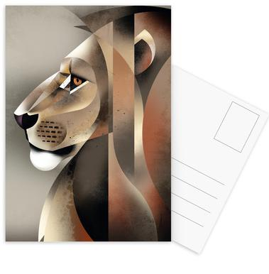 Lion Postcard Set