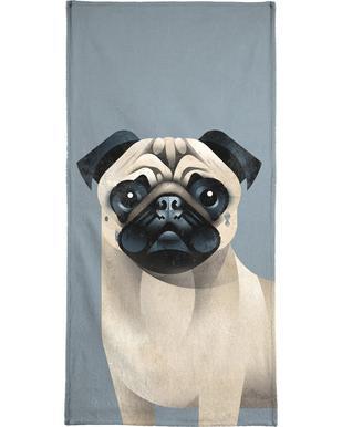 Pug serviette de plage