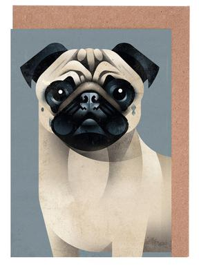 Pug Greeting Card Set