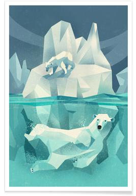 Vintage ijsbeer poster