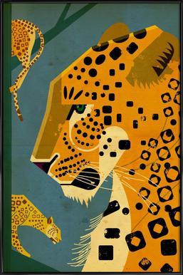 Leopard - Poster in Standard Frame