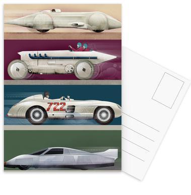 Record Cars Postcard Set