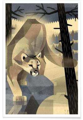 Vintage Mountain Lion Poster