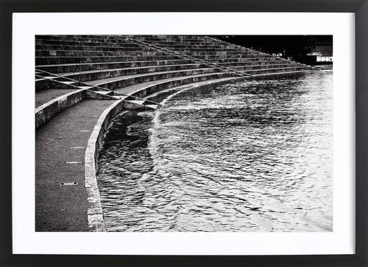 The Floods Part I -Bild mit Holzrahmen