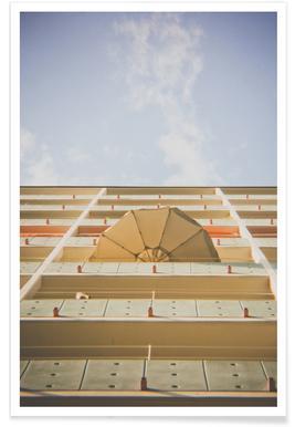 Umbrella Meets Sky Poster