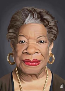 Maya Angelou -Leinwandbild