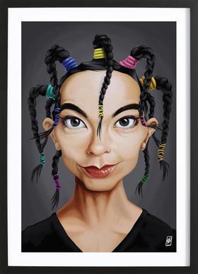 Björk Framed Print
