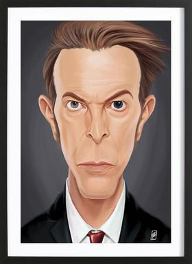 David Bowie affiche sous cadre en bois