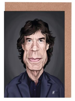 Mick Jagger Greeting Card Set