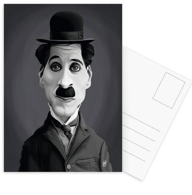 Charlie Chaplin cartes postales
