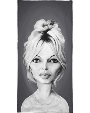 Brigitte Bardot serviette de plage