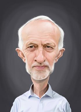 Jeremy Corbyn -Leinwandbild