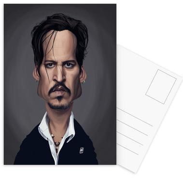Johnny Depp Postcard Set