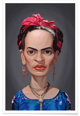Frida Kahlo - karikatuur poster