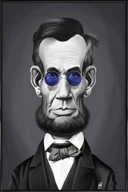 Abraham Lincoln Steam Framed Poster