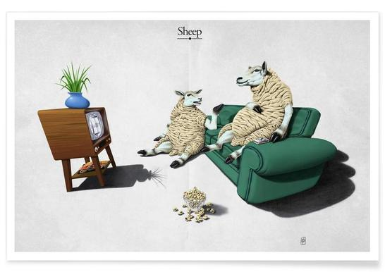 Sheep (titled) poster