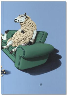 Sheep (colored) -Notizheft