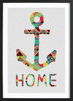 You Make Me Home -Bild mit Holzrahmen