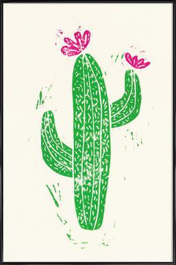 Cacti with Flower Framed Poster