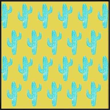 Cacti Desert Blue Framed Poster