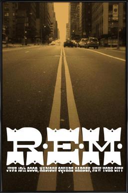 R.E.M. GIG POSTER -Bild mit Kunststoffrahmen