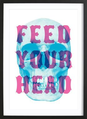 FEED YOUR HEAD Framed Print