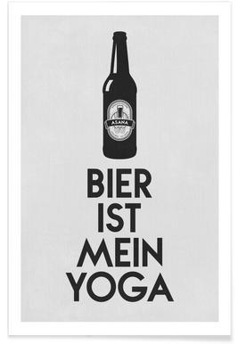 Bier Ist Mein Yoga Poster