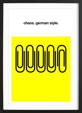 German Chaos ingelijste print