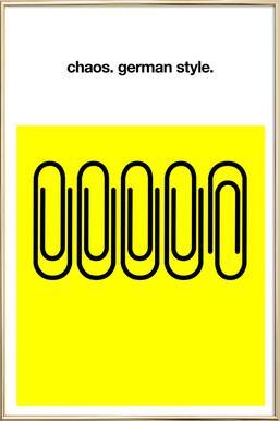 German Chaos -Poster im Alurahmen