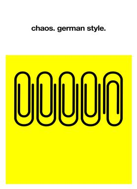 German Chaos -Leinwandbild