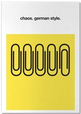 German Chaos -Notizblock