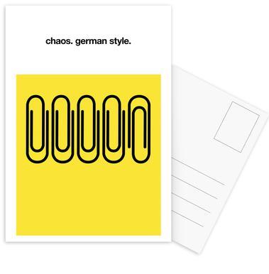 German Chaos Postcard Set
